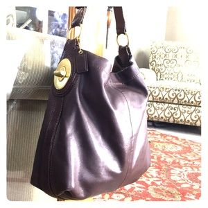 💕 Coach brown leather large hobo style bag 💕